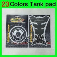 zx6r gastanks großhandel-23 Farben 3D Kohlefaser Gas Tank Pad Protector Für KAWASAKI NINJA ZX6R 07 08 ZX-6R ZX 6 R 07-08 ZX 6R ZX6R 2007 2008 07 3D Tankdeckel Aufkleber