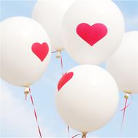 boda inflable flotante al por mayor-Novedad 100Pcs 12Inch Love Heart Pearl Globo de látex Flotador Bolas de aire Inflable Boda Navidad Fiesta de cumpleaños Decoración 2.8G