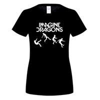 Wholesale Indie Rock Shirts - New woMenT shirt IMAGINE DRAGONS Letters Printed T Shirts Summer Style Short Sleeve O-Neck Cotton Indie Rock Band woMen Tops OT-480