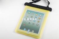 samsung tab4 cover achat en gros de-Clear WaterproofCase Pêche Rafting Tablet Sac Housse Etui antichoc avec dragonne réglable pour Samsung Galaxy Tab4 / S