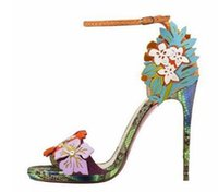 Wholesale Fl Flowers - 11 cm high hate day fine with ultra high heels, Europe and the United States big summer sexy serpentine peep-toe nightclub sandals female fl