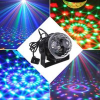 RGB Effect Stage Lighting 5w Crystal Auto Sound Magic Ball Disco Light DMX Laser festa DJ Club Lamp LEG_90F