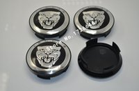 "Wholesale Center Hub Cap Cover - 4pcs lot 58mm 2.28"" Black Jaguar wheel Center Cover Hub Caps Fit for Jaguar XJ8 XK8 XKR S Type X type"