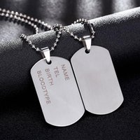 New Brand Link Chain Man colar Militar Army Dog Tags Men's Stainless Steel Pendant Colares Jóias Gift Choker Atacado