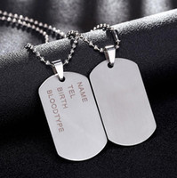 acero inoxidable para perro al por mayor-New Brand Link Chain Man necklace Military Army Dog Tags Men's Stainless Steel Pendant Necklaces Jewelry Gift Choker Wholesale