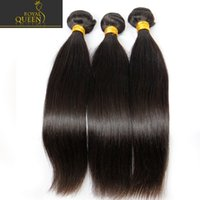 Wholesale Cheap Blonde Brazilian - Virgin Brazilian Straight Human Hair Weaves 3 Bundles Cheap Indian Cambodian Mongolian Peruvian Malaysian Remy Hair Extensions Natural Black