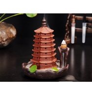 Purple Seven Layer Pagoda Incense Burner Sandalwood Tea Room Creative Ornaments Smoke Backflow Cone Stick Coil Incense Base