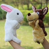 Wholesale small stuffed plush rabbit resale online - 10pcs New cm Plush Toys Children and small rabbit stuffed animal hand puppet wolf wedding dolls stuffed dolls have style whole