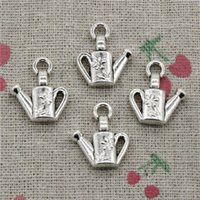 Wholesale Antique Water Can - 60pcs Charms watering can gardening 18*15mm Antique Silver Pendant Zinc Alloy Jewelry Hand Made Bracelet Necklace Fitting
