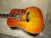 touche à ébène évasée à la guitare électrique achat en gros de-Nouvelle Arrivée Guitare Acoustique Au Citron Burst avec Ebony Fingerboard Haute Qualité Pas Cher