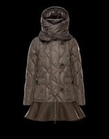 falda grande abrigos al por mayor-Luxry Brand Women Winter Down Chaquetas 2019 Nueva moda Wave Skirt Slim Warm Long Coat Mujer Big Swing Ladies Outwear Dress Envío gratis
