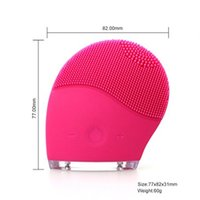 Wholesale Sonic Face Cleaning Brush - Sonic Vibration Electric Face Cleanser 2 Brushes Head Deep Pore Cleaning Facial