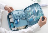 schmuckkoffer großhandel-Wasserdichte Reise Make-up Kosmetische Storage Trunk Reißverschluss Tasche Fall Frauen Männer Mode Tasche Toilettenartikel Travel Kit Schmuck Veranstalter Handtasche