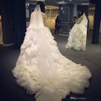Wholesale good wedding pictures - 2017 New Real Pictures Straps Wedding Dresses Ruffles Long Formal Occasion Importi Thick xiu Wedding Gowns Good Quality Fabric Party Dress