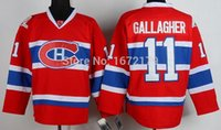 Wholesale Quick Shipment - CHEAP ICE HOCKEY MONTREAL CANADIENS #11 BRENDAN GALLAGHER RED HOME PREMIER STITCHED JERSEY FREE SHIPMENT