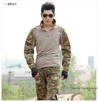 Wholesale Acu Xxl - Wholesale-Best selling Multicam Woodland ACU ATACS camo Combat Uniform Gen3 shirt + pants Military Army Suit with knee pads