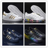 Chaussures décontractées 2017 adidas Hot 2017 Summer Fashion Chaussures Casual Superstar Femmes Chaussures plates Femmes Zapatillas Deportivas Mujer Lovers Sapatos