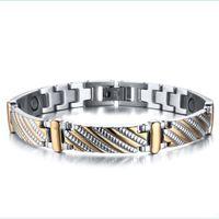 Wholesale East Relief - 2016 Hot selling New arrival Energy bracelet stainless steel,Nano Energy Magnetic Germanium Bracelet Pain Relief Powerfull!magnetds bracelet