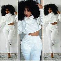 Wholesale Red Hot Pants Shorts - 2016 New Hot Long sleeve piece pants Braid striped white collar Women Tracksuits Two-piece Sets piece pants suit Jumpsuit Pants