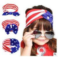 Wholesale American Stick Flags - Baby Flag Headband Rabbit Ears selling American headband day hair tie headband source of foreign trade