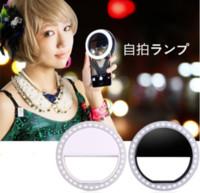 ночной снимок камеры оптовых-Селфи LED Ring Flash Light Camera Fill Light Фото Прожектор вспышка Ночная съемка Свет для iPhone Самсунга регулируемой яркостью