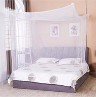 Wholesale Doors Canopy - Moustiquaire 1pc Canopy White Four Corner Post Student Canopy Bed Mosquito Net netting Queen King Twin size