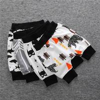 Wholesale Bear Arrows - New quality INS baby half shorts Capri pants whale shark arrows bear Kids Toddler print Harem pp pants Children clothes wholesale