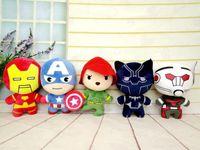 Wholesale men doll toys video for sale - 7 Inch Design Captain America Civil War Plush dolls EMS cm children Avengers cartoon Iron Man Plush dolls toys B
