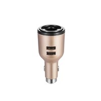 Wholesale Emergency Ipad Chargers - IVLWE 3 in 1 Dual USB Smart Car Charger Wireless Bluetooth 4.1 Earphone Headset Emergency Safe Hammer Built-in Mic for iPhone iPad iPod Gold