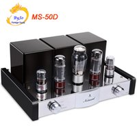Wholesale Ms Power - New Nobsound MS-50D Tube Amplifier HI-FI 2.1 Channels Amplifier Vaccum Tube AMP Support Bluetooth and USB MS-10D 30D Upgraded