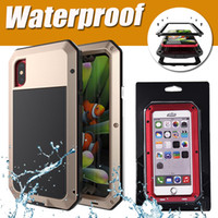 Wholesale Aluminum Metal Armor Case - Doom Armor Shockproof Dropproof Rain Waterproof Metal Case for IPhone 7 Plus 6S 6 6S 5S 5 SE with Gorilla Glass Aluminum Cover Fingerprint
