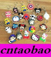Wholesale Keychains Character - 19 Models Phone Accessories Cartoon Rings Trinket Soft PVC Keychain Minions Marines Key Holder Key Chains Finder Souvenirs Gift