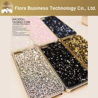 Cristallo di alta qualità di lusso PC Bling Bling diamante strass Glitter per iPhone Custodie per iPhone 4 4 ​​s 5 5 s 6 6 s 6 più 6 splus