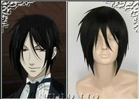 black butler wig - 100 New High Quality Fashion Picture wigs gt gt Black Butler Sebastian Michaelis Short Black Cosplay Wig Hair