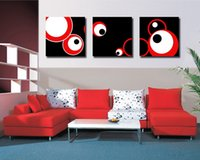 Modern Fine Abstract Circle Painting Giclée-Druck auf Leinwand Wall Art Home Decoration Set30191