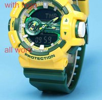 1pcs / Lot Men Women Sport Dive G 400 Relógios LED Army Men g400 chocada Military Watch Original Case 2017