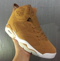 Wholesale Golden Rubbers - High Quality Retro 6 Golden Harvest Wheat Basketball Shoes Men 6s Golden Harvest Sports Sneakers With Shoes Box