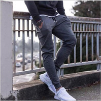 Wholesale runner clothes for sale - 2017 New High Quality Jogger Pants Men Fitness Bodybuilding Gyms Pants For Runners Clothing Autumn Sweat Trousers Britches