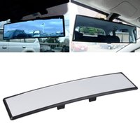 Wholesale Hanging Accessories For Car Mirrors - Universal Car Truck 300mm Practical Wide Convex Mirror For Anti-Glare Flat Clip On Rear View Mirror Free Shipping