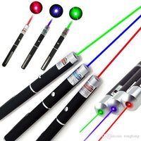 Wholesale Efit Gift - 5mW 532nm Green Red Blue light Beam Laser Pointer Pen efit For SOS Mounting Night Hunting teaching Xmas gift Opp Package DHL fast shipment