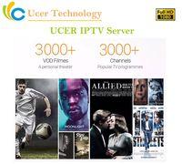 ingrosso youtube hdmi-Ucer IPTV Server Europa IPTV Francia Regno Unito Spagna Spagna Italia Canali IPTV per M3U Smart TV Android Enigma2 MAG Live + Canali VOD