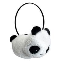 Wholesale Large Fur Muff - Wholesale-5x Cute Large Fluffy Fur Plush Panda Earmuffs Winter Ear Warmer Ladies Women Girls