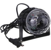 Wholesale laser lights wholesale - Voice Control RGB LED Stage Lamps Crystal Magic Ball Sound Control Laser Stage Effect Light Party Disco Club DJ Light