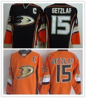 Wholesale Polyster Cotton - Wholesale Cheap Men's Anaheim #15 Ryan Getzlaf Jersey 100% Polyster Getzlaf Third Jersey New Getzlaf Ice Hockey Jersey