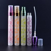 Wholesale Travel Size Perfume Atomizer - Wholesale 200pcs lot 10ml Perfume Glass Bottle Refillable Spray Atomizer Colorful Portable Tube Glass Sample Vials Travel Size