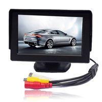 "Wholesale Sun Tft - New car 4.3"" TFT Digital LCD Color Sun Shade Screen Car Rearview Parking Display Monitor Free shipping YY418"