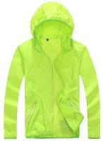Wholesale Sun Protection Shirt Women S - Wholesale-Quick Drying skin Windbreaker 2016 Sun Protection Clothing men &women Ultra-thin Waterproof Breathable uv protection shirt