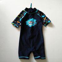 Wholesale bebe clothing online - 0 M Short sleeve Unitard Swimsuit maillot de bain bebe swimwear baby zwempak Uv Protected Swimwear boy clothes Surf Sunsafe