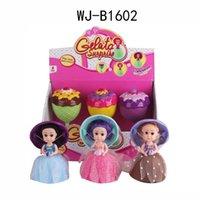 Wholesale Novelty Cups - Cup cake girl mini novelty goblet dolls 1602