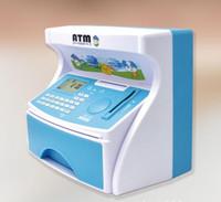banka para kasası toptan satış-Mini ATM Banka Oyuncak Dijital Nakit / Para Saklama Tasarruf Para Kutusu ATM Banka Makinesi şekli çocuklar hediye